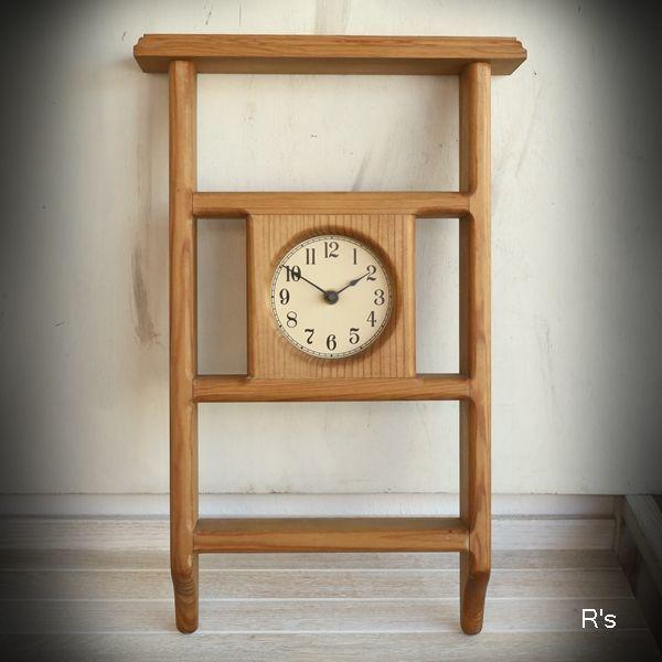 画像1: U.S.A. WINCHUCK WOODBOX 木製ウォールクロック 壁掛け時計 ユーズド品(店5343)
