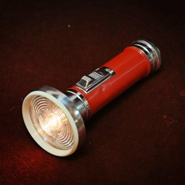 画像1: ナショナル レトロ懐中電灯 単2本3V豆電球仕様 ユーズド品(S5347)