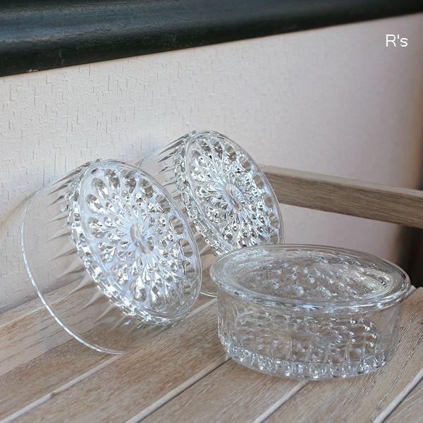 画像4: レトロ ガラス製 3段キャニスター 滴 未使用品(お5354)