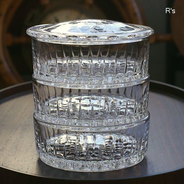 画像3: レトロ ガラス製 3段キャニスター 滴 未使用品(お5354)