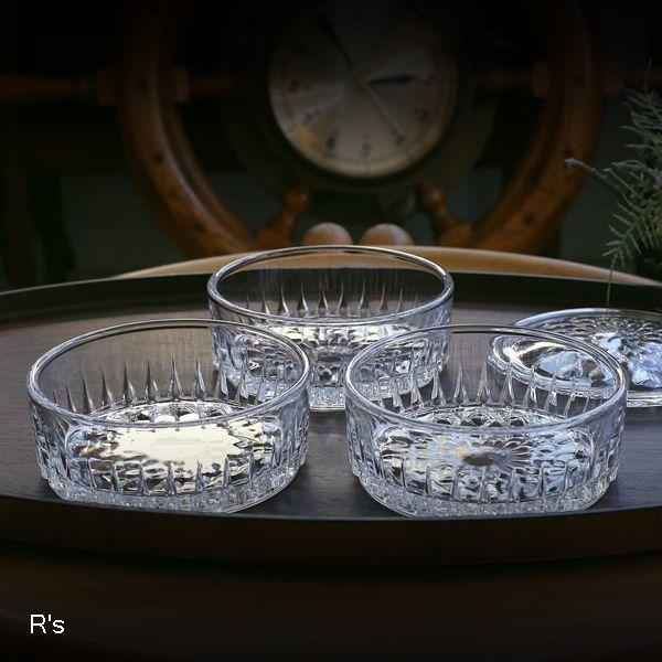 画像2: レトロ ガラス製 3段キャニスター 滴 未使用品(お5354)
