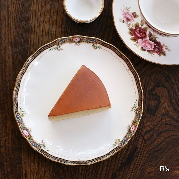画像1: ノリタケ BONE CHINA 16cmプレート ケーキ皿 ROSE WIND 4646 金彩 未使用品(FF5445)