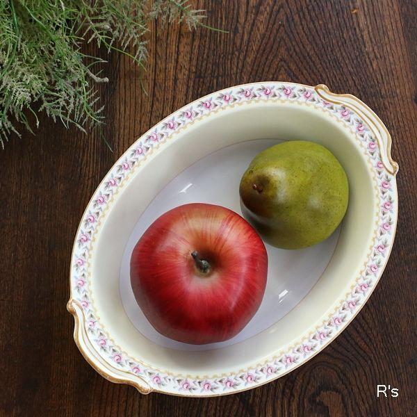 画像1: オールドノリタケ ベーカー皿 盛皿 薔薇の柄 アンティーク品(よ5442)