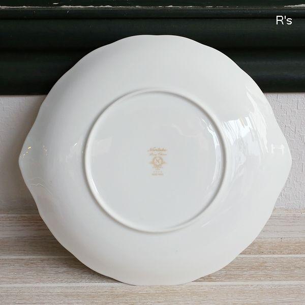 画像4: ノリタケ BONE CHINA 25cmプレート ROSE WIND 4646 金彩 未使用品(ノ5449)