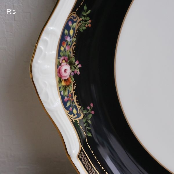 画像3: ノリタケ BONE CHINA 25cmプレート ROSE WIND 4646 金彩 未使用品(ノ5449)