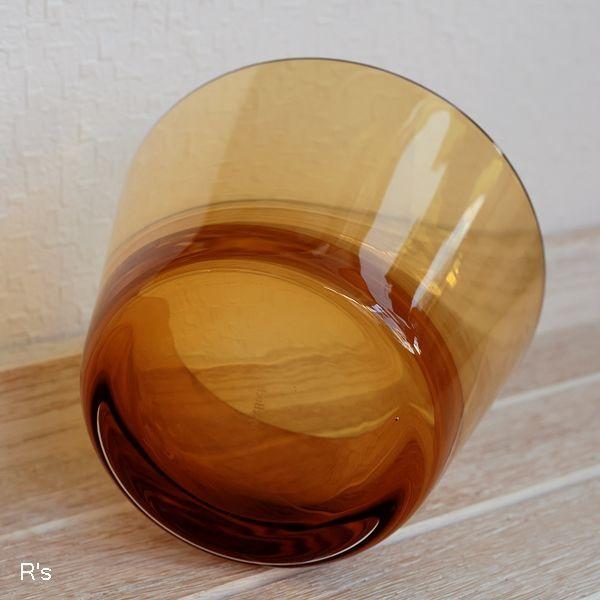 画像5: ドイツ ビレロイ&ボッホ カラーコンセプト ガラス キャンドルホルダー アンバー 未使用品(P5588)