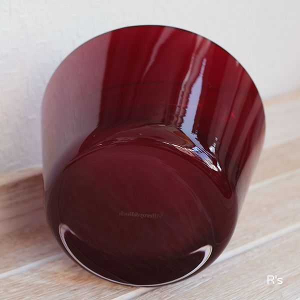 画像4: ドイツ ビレロイ&ボッホ カラーコンセプト ガラス キャンドルホルダー レッド 未使用品(P5587)