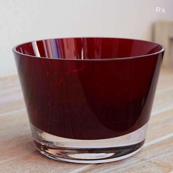 画像2: ドイツ ビレロイ&ボッホ カラーコンセプト ガラス キャンドルホルダー レッド 未使用品(P5587)
