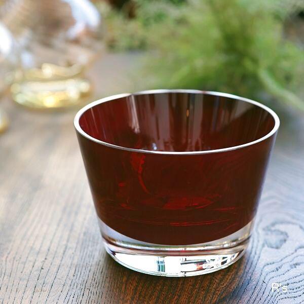 画像1: ドイツ ビレロイ&ボッホ カラーコンセプト ガラス キャンドルホルダー レッド 未使用品(P5587)