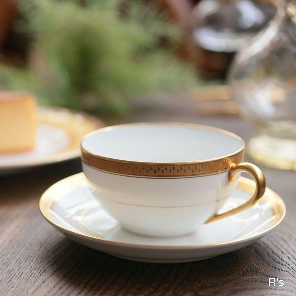 画像1: ノリタケ 日本陶器會社 RC カップ&ソーサー 金彩 菱形の柄 ユーズド品(F970)