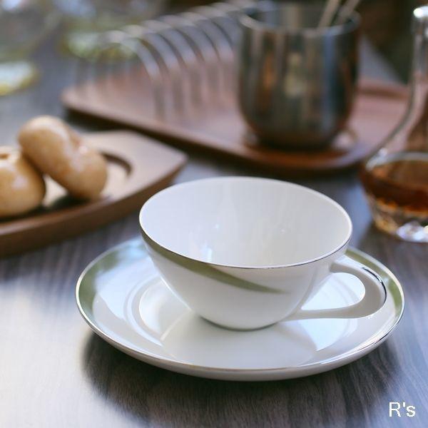 画像1: SC Sango 三郷陶器 カップ&ソーサー グリーンライン 未使用品(ソ4945)